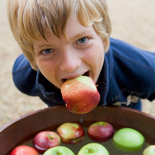 Autumn answer: APPLE BOBBING