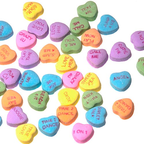 Candy answer: SWEETHEARTS