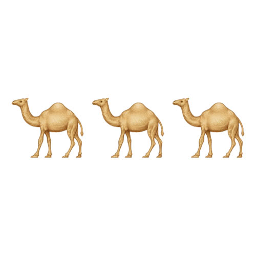 Christmas Emoji answer: CAMELS