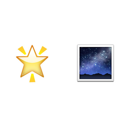 Christmas Emoji answer: STAR IN THE NIGHT