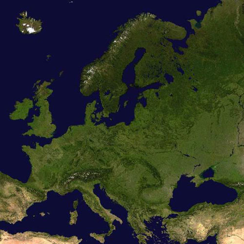 Earth from Above answer: EUROPE