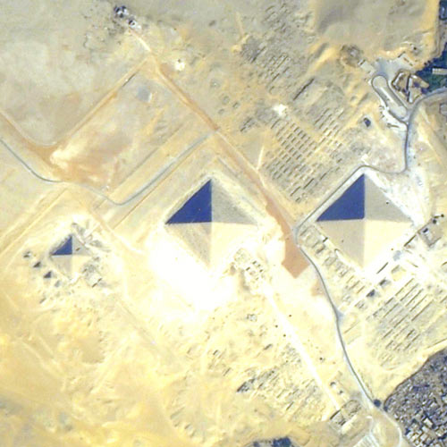 Earth from Above answer: PYRAMIDS