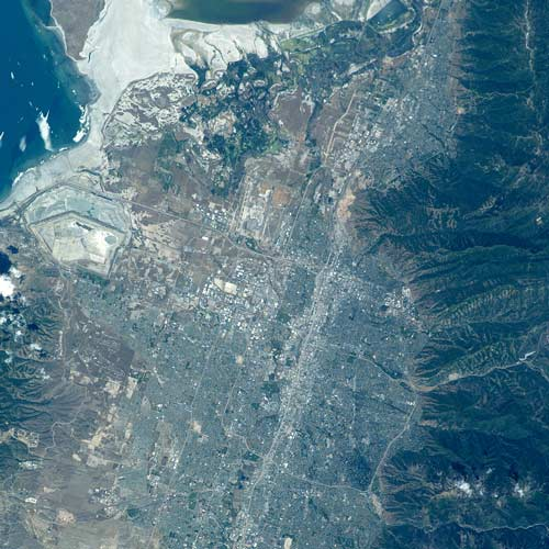 Earth from Above answer: SALT LAKE CITY
