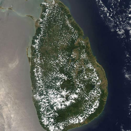 Earth from Above answer: SRI LANKA