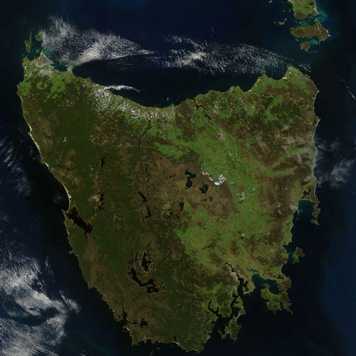 Earth from Above answer: TASMANIA