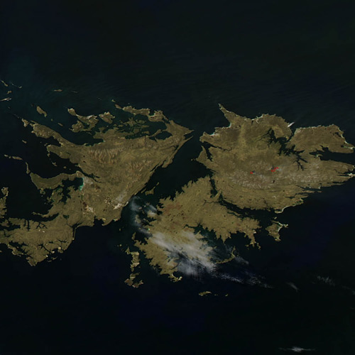 Earth from Above answer: THE FALKLANDS