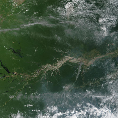 Earth from Above answer: AMAZON RIVER