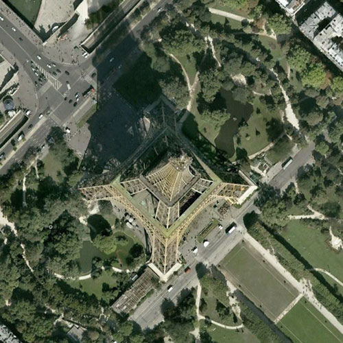 Earth from Above answer: EIFFEL TOWER