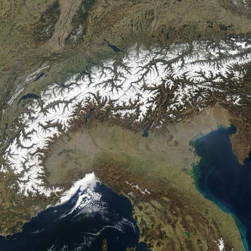 Earth from Above answer: THE ALPS