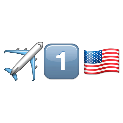 Emoji Quiz 3 answer: AIR FORCE ONE
