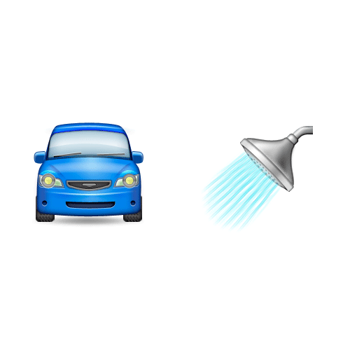 Emoji Quiz 3 answer: CAR WASH