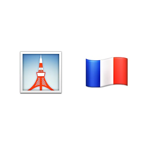 Emoji Quiz 3 answer: EIFFEL TOWER