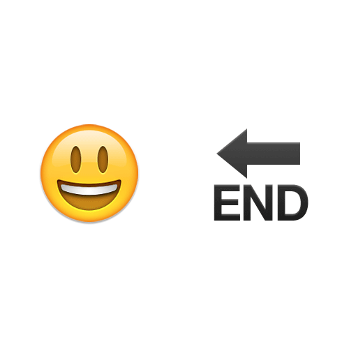 Emoji Quiz 3 answer: HAPPING ENDING
