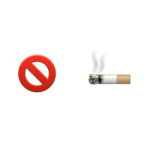 Emoji Quiz 3 answer: NO SMOKING