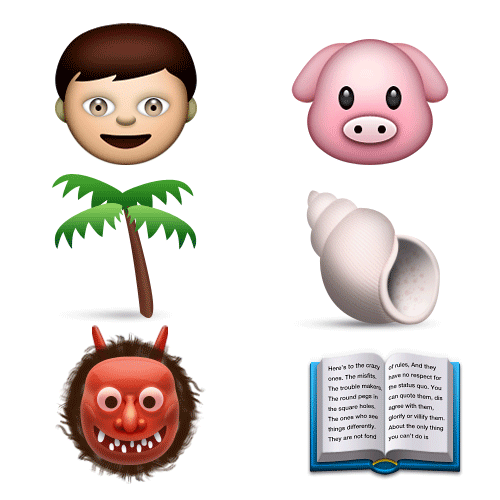 Emoji Quiz 3 answer: LORD OF THE FLIES
