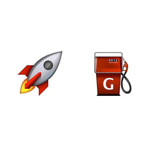 Emoji Quiz 3 answer: ROCKET FUEL