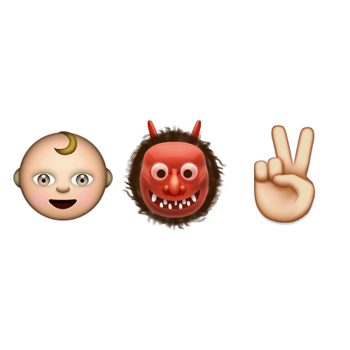 Emoji Quiz 3 answer: TERRIBLE TWOS