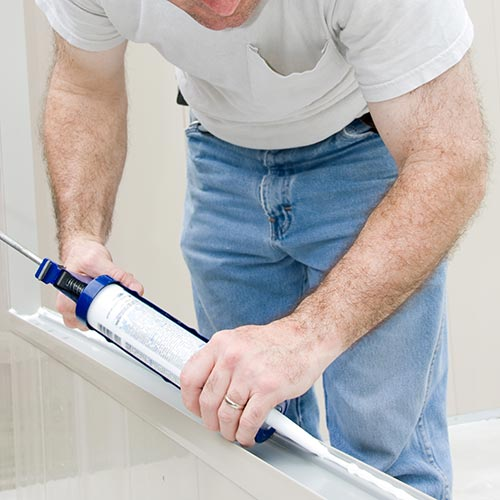 Ends in ..ING answer: CAULKING