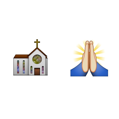 Halloween Emoji answer: CHURCH SERVICE