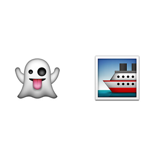 Halloween Emoji answer: GHOST SHIP