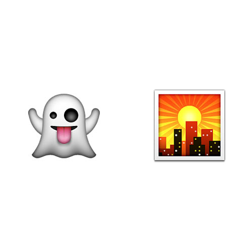 Halloween Emoji answer: GHOST TOWN