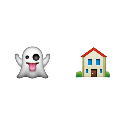 Halloween Emoji answer: HAUNTED HOUSE