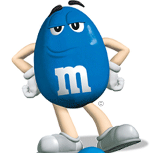 I ♥ 1990s answer: BLUE M & M