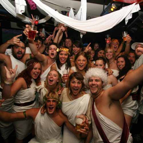 Party answer: TOGA PARTY