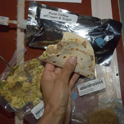 Weltall answer: SPACE FOOD