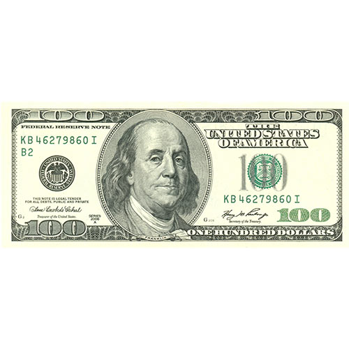 2013 Quiz answer: 100 DOLLAR BILL