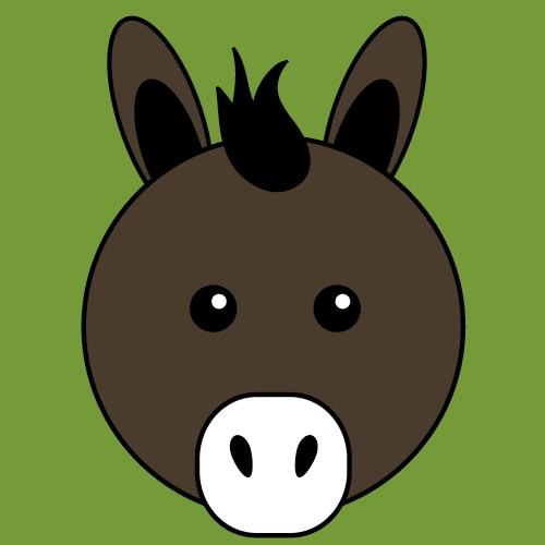Donkey Emoji information: keywords and pictures