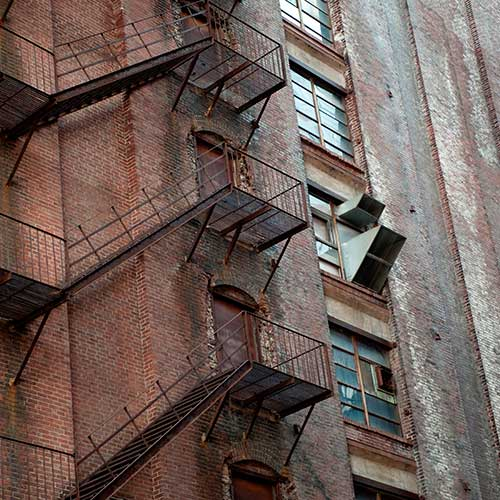 Architecture answer: FIRE ESCAPE