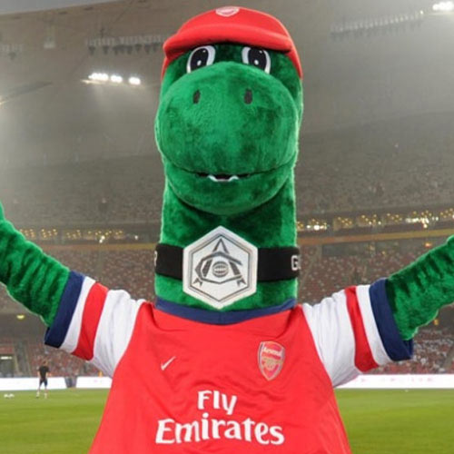 Arsenal FC answer: GUNNERSAURUS