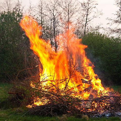 Autumn answer: BONFIRE