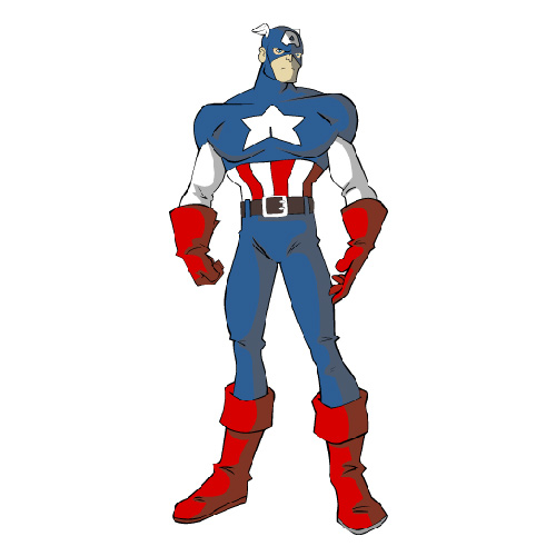 Cartoons answer: CAPTAIN AMERICA