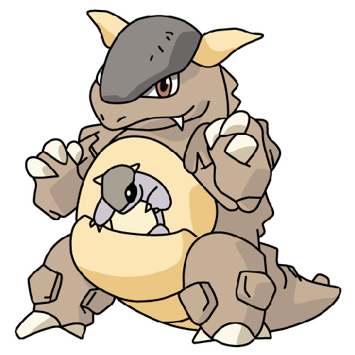 Cartoons answer: KANGASKHAN