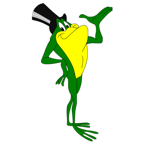 Cartoons answer: MICHIGAN J FROG
