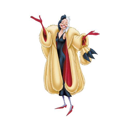 Cartoons 2 answer: CRUELLA DE VIL