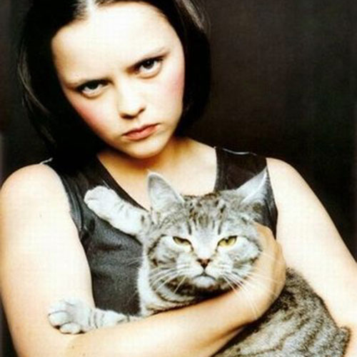 Cat Lovers answer: CHRISTINA RICCI