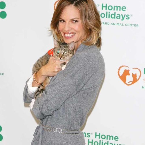 Cat Lovers answer: HILARY SWANK