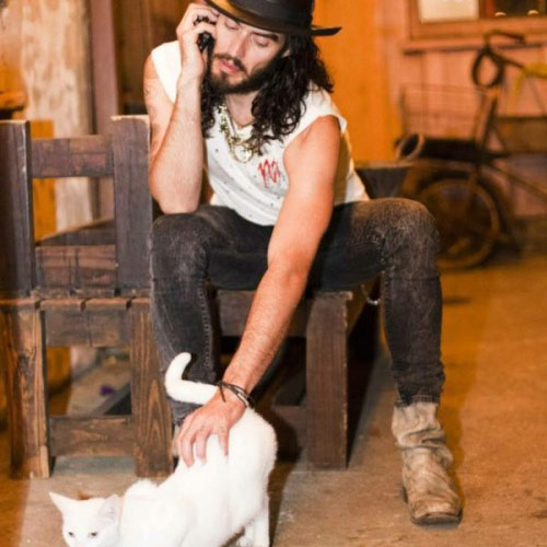 Cat Lovers answer: RUSSELL BRAND