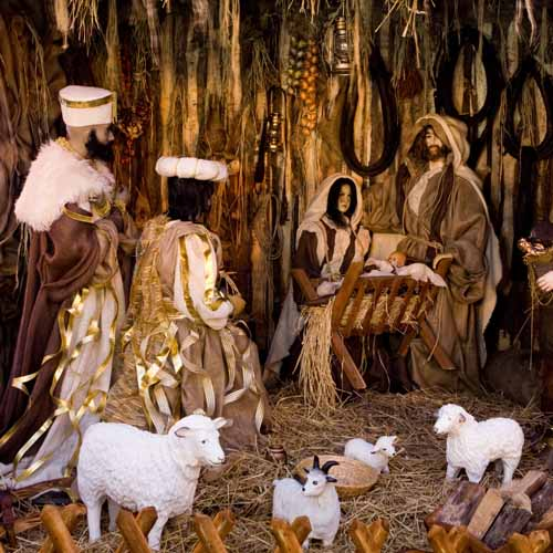 Christmas answer: NATIVITY SCENE