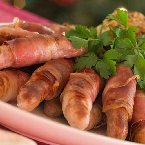 Christmas answer: PIGS IN BLANKETS