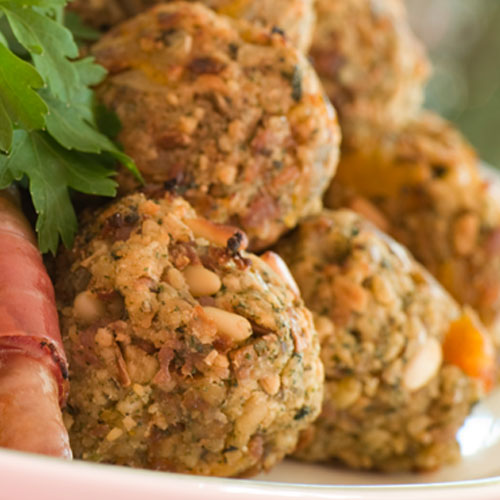 Christmas answer: STUFFING BALLS