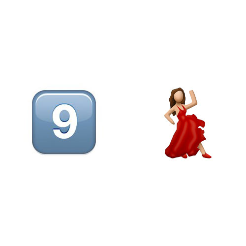 Christmas Emoji answer: 9 LADIES DANCING