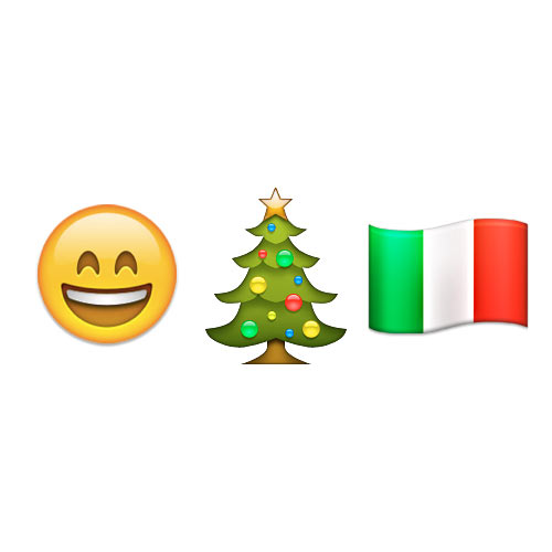 Christmas Emoji answer: BUON NATALE