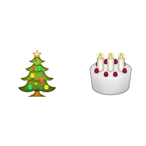 Christmas Emoji answer: CHRISTMAS CAKE