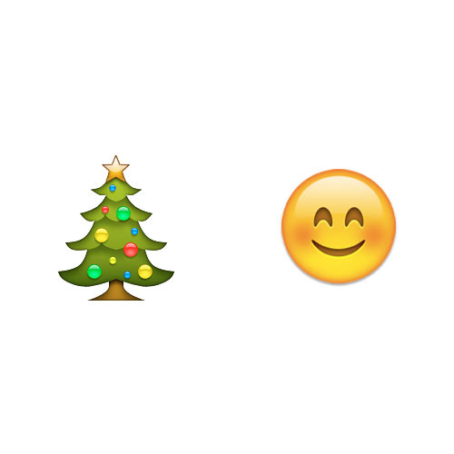 Christmas Emoji answer: CHRISTMAS CHEER