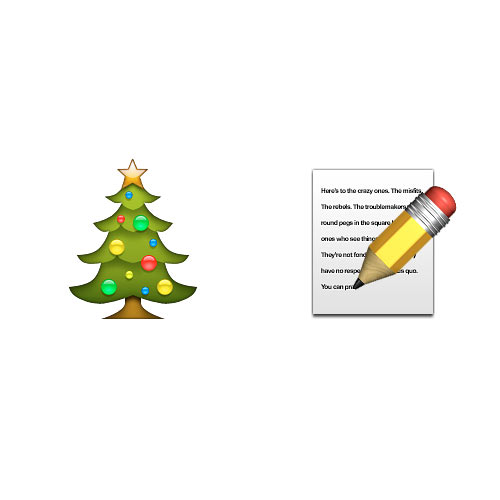 Christmas Emoji answer: CHRISTMAS LIST