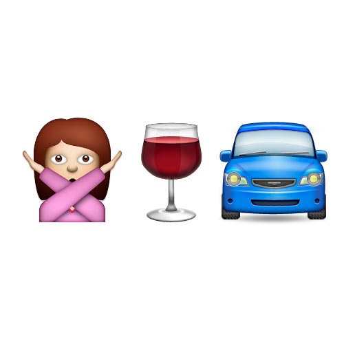 Christmas Emoji answer: DONT DRINK DRIVE